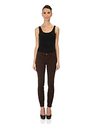 J Brand Hose Twill Mid Rise Skinny (Suede)