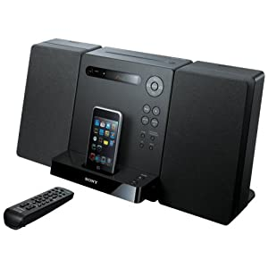 Sony Micro Hi-fi Shelf System With Built in Ipod Dock, CD Player, AM/FM Radio, Remote Control
