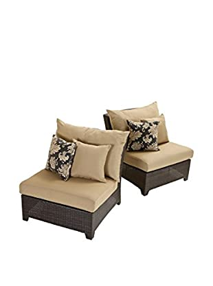 RST Brands Deco Set of 2 Modular Armless Chairs, Beige