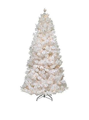 National Tree Company 7.5' Wispy Willow Grande White Slim Hinged Tree