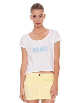 Hakei Camiseta Print Algodón (Blanco)
