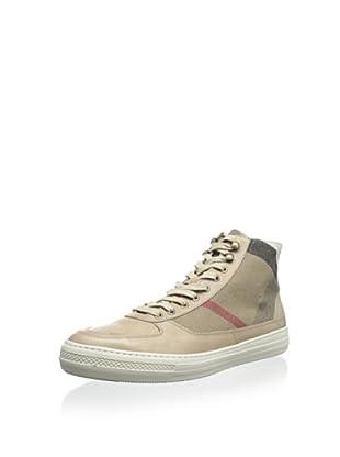Burberry Men's High-Top Check Sneaker (Beige)