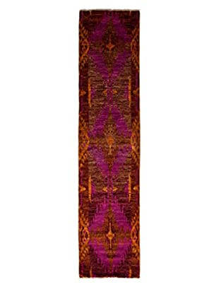 Darya Rugs Ikat Oriental Rug, Burgundy, 2' 6
