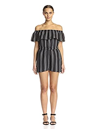 Lucca Couture Women's Striped Romper