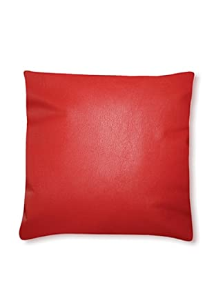 Natural Siena Leather Pillow (Dark Red)