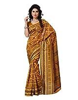 Diva Fashion Crepe Silk Saree (Dfs489B _Yellow)