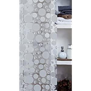 Obsessions Shining Circle Shower Curtain - Clear (P-532)