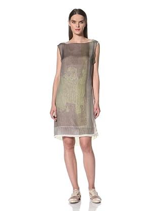 JIL SANDER NAVY Women's Sleeveless Striped Dress (Green)