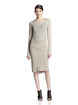 Rick Owens Women's Seamed Skirt (Pearl)