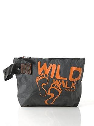 H.Due.O Necessaire Wild Walk Grigio/Arancione