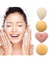 Magic Konjac Konnyaku Jelly Fiber Face Wash Cleansing Sponge Puff Pad (04)