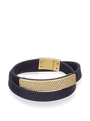 Swarovski Armband  goldfarben/dunkelblau
