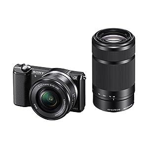 Sony Alpha A5000Y 20.1MP Digital SLR Camera (Black) with 16-50, 55-210mm Lens (ILCE-5000Y)