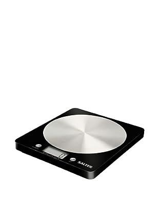 Salter Báscula de Cocina Ultraligera, Aquatronic Negra