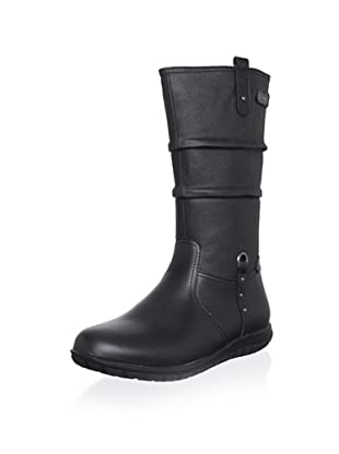 Billowy Kid's Pleated Boot (Black)