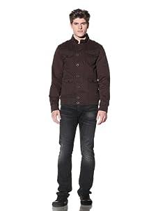 MG Black Label Men's Ulna Military Jacket (Chocolate)