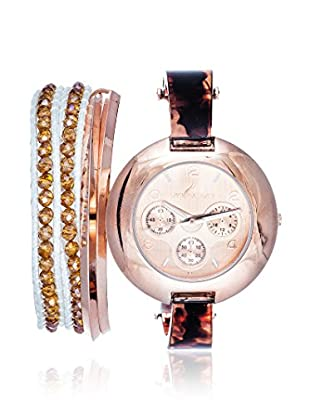 Arm Candy Women's NXS5295Q-BR Brown/Rose Stainless Steel/Metal Watch