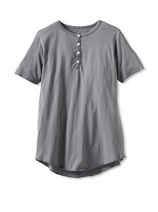 Spenglish Men's Short Sleeve Henley (Hermatite)