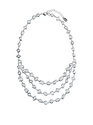 Cubic Zirconia by Kenneth Jay Lane Clear Triple Strand Necklace