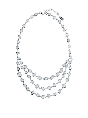 CZ by Kenneth Jay Lane Clear Triple Strand Necklace