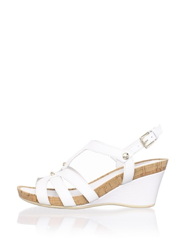 Geox Women's Roxy30 Wedge Sandal (White)