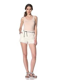 Dolce Vita Women's Agustina Short with Belt (Crème Lace)