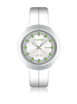 K&BROS Reloj 9573 (Blanco / Verde)