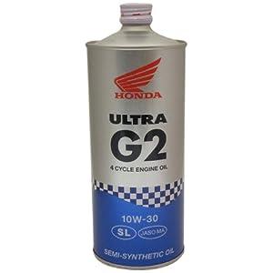 【クリックで詳細表示】HONDA [ ホンダ純正オイル ] ULTRA G2 [ ウルトラ G2 ] 10W-30 [ SL ] 部分化学合成油 [ 1L ] (4サイクル用) 08233-99971 [HTRC3]