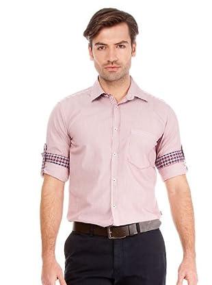 Hugo Boss Camisa Natal (burdeos / blanco)