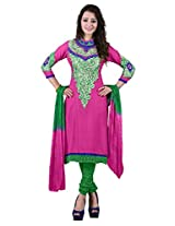 7 Colors Lifestyle Womens Cotton Unstitched Salwar Suit Dress Material (Aezdr3204Pmpa _Pink _Free Size)