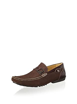 Mezlan Men's Slip on Driver with Strap and Buckle (Brown)
