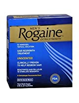 Men's Rogaine Extra Strength Hair Regrowth Treatment Unscented 3 month supply