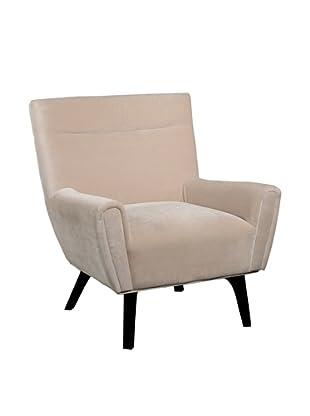 Abbyson Living Marquis Microsuede Armchair, Cream