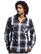 White House Mens Blue Casual Shirt | Colour Navy Blue | Size XXL