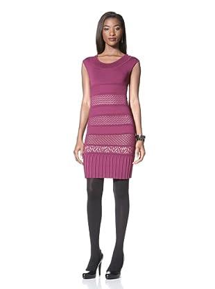 Catherine Malandrino Women's Knit Paneled Dress (Fuchsia)