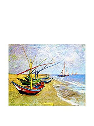 LegendArte  Wandbild Fishing Boats on the Beach at Saintes-Maries von Vincent Van Gogh