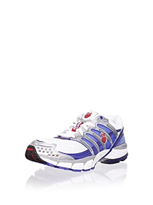 K-Swiss Men's Konejo II Running Shoe (White/Silver/Olympian Blue/Fiery Red)