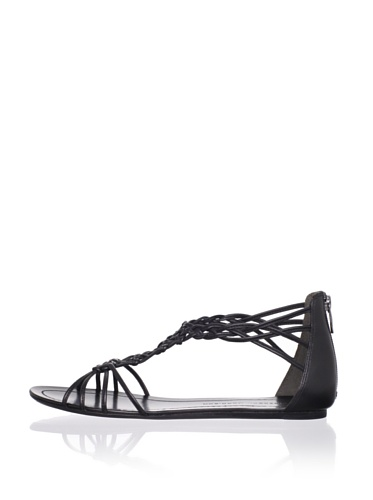Sigerson Morrison Women's Rafee Flat Sandal (Black)