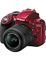 NikonD3300 DSLR Camera with 18-55mm Lens (Red)