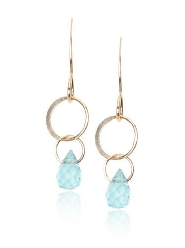 Melissa Joy Manning 14K Gold Aquamarine Drop Earrings