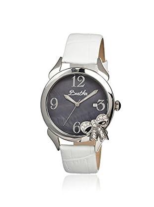 Bertha Women's BR2101 Bow White/Black Leather Watch