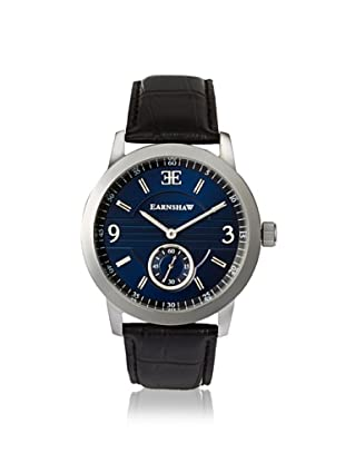 Earnshaw Men's 8022-03 Greenock Black/Blue Stainless Steel Watch