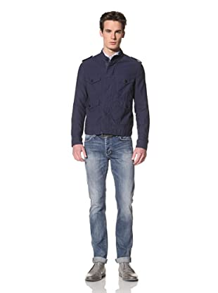 Onassis Men's Orville Four Pocket Jacket with Epaulets (Dress Blue)