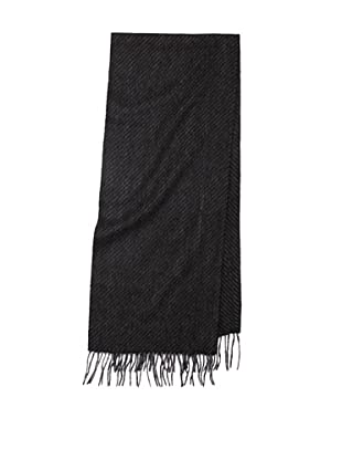 Joseph Abboud Men's Diagonal Scarf (Charcoal)