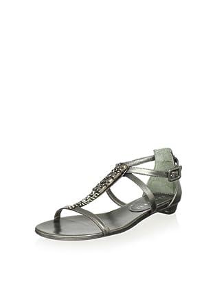 Lola Cruz Women's Jeweled Flat Sandals (Plomo)