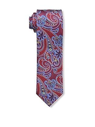 Bruno Piattelli Men's Paisley Silk Tie, Red