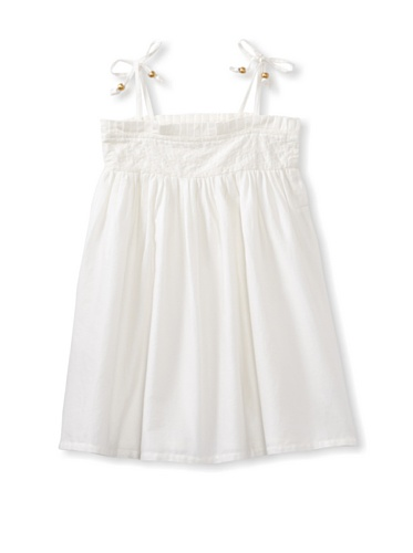 Pale Cloud Girl's Cayleigh Dress (White)
