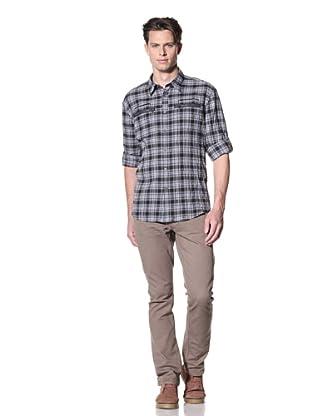 John Varvatos * USA Men's Slim Fit Shirt with Zip Pockets