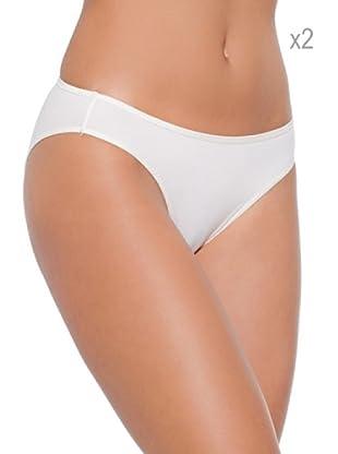 Selene Pack x 2 Braguita  Bikini Microfibra Sofia (Marfil)