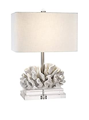 Couture Elkhorn Coral Table Lamp, Coral White